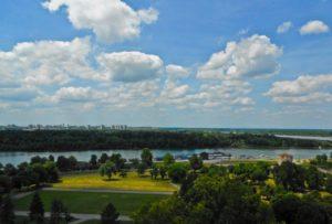 Le panorama Belgrade vu de Kalemegdan