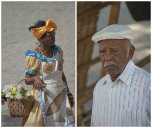 Vendeuse et cubain à la havane